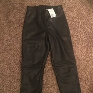 H&M NWT faux leather leggings